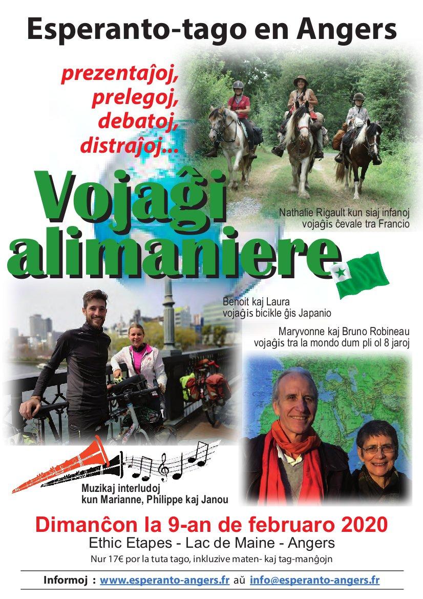 Esperanto-Tago en Angers, dimanĉon la 9-an de februaro 2020